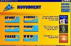 Dette er hovedskjermbildet de første svenske AOL-abonnentene møter.