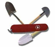 Lommekniv med spader.