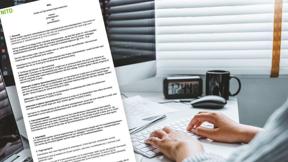 Bør ansatte på hjemmekontor ha en egen avtale? Det pågår det for tiden en stor diskusjon om. Nito mener man uansett bør ha en form for hjemmekontor-avtale, og har laget en mal.