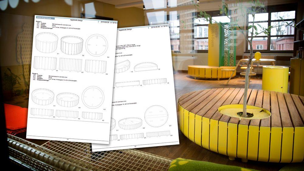 Vestre, som lager utemøbler, er blant de flittigste innen designregistering i Norge.