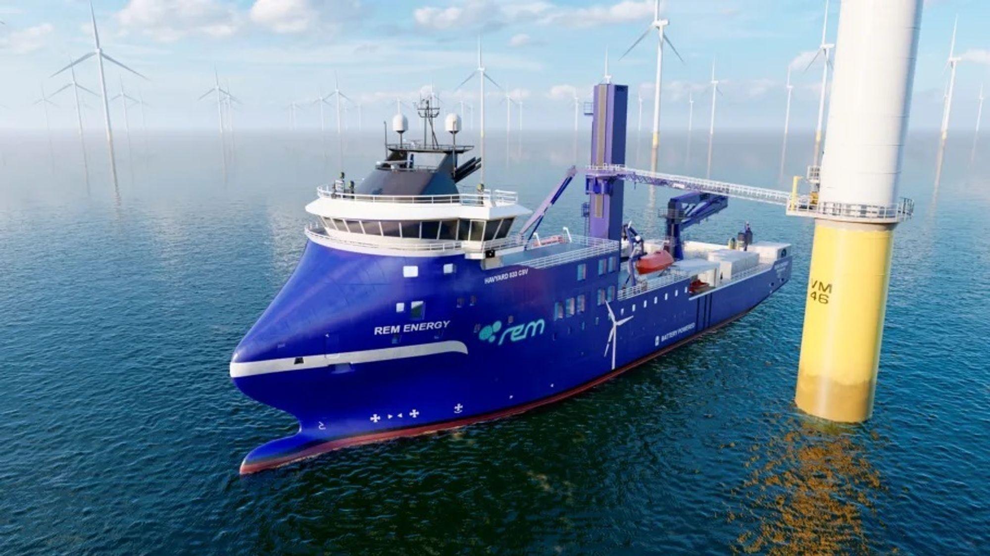 "REM Offshore har bestilt et havvind serviceskip med Havyard 833 SCV design. Skipet får sengeplass til 99 og ""walk to work""-gangvei fra SMST for servicepersonell."