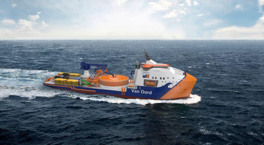 Vard 9 02 for Van Orrd er spesiallaget for legging av kabler i havvindparker og inn til land. Skipet blir 130 meter langt og 28 meter bredt med karuseller for 8.000 tonn kabler.