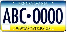 Pennsylvania-bilskilt