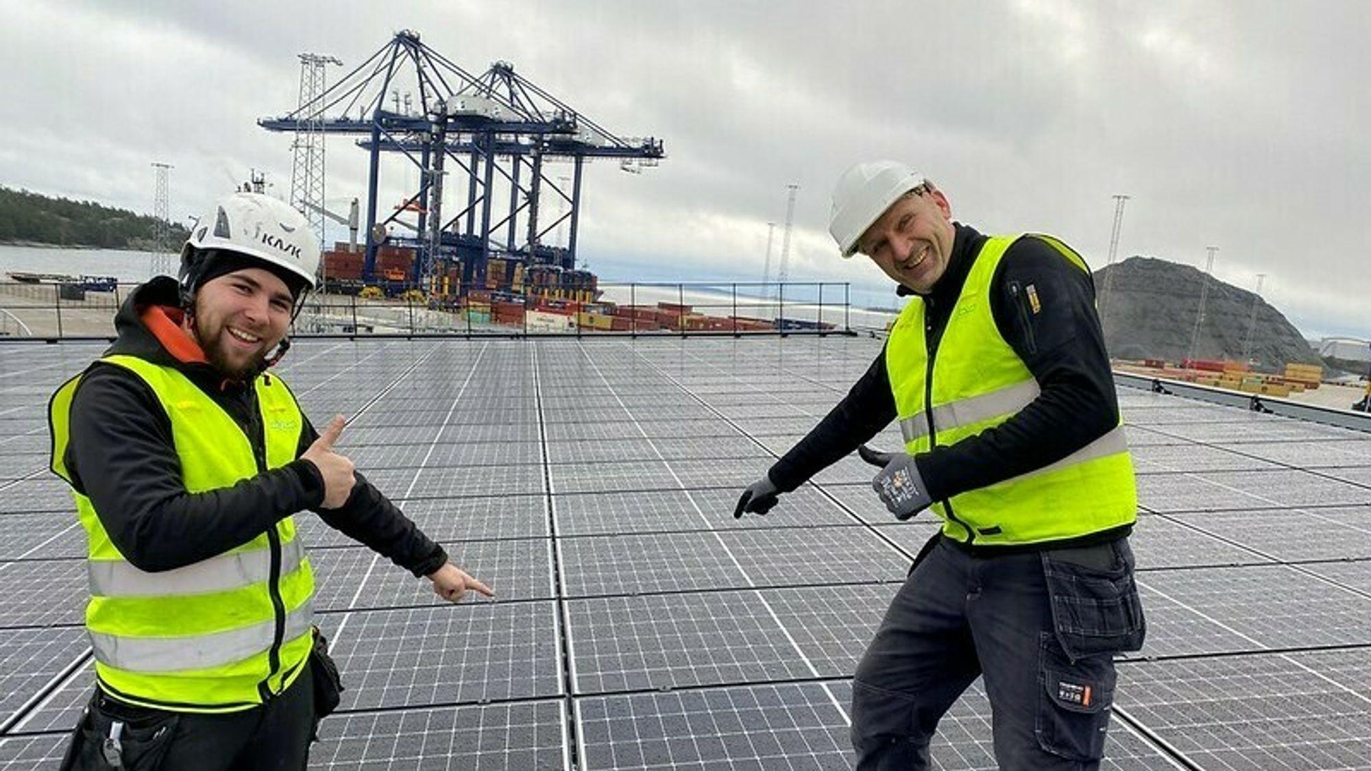 Stockholm havn får et av Nordens største solcelleanlegg.