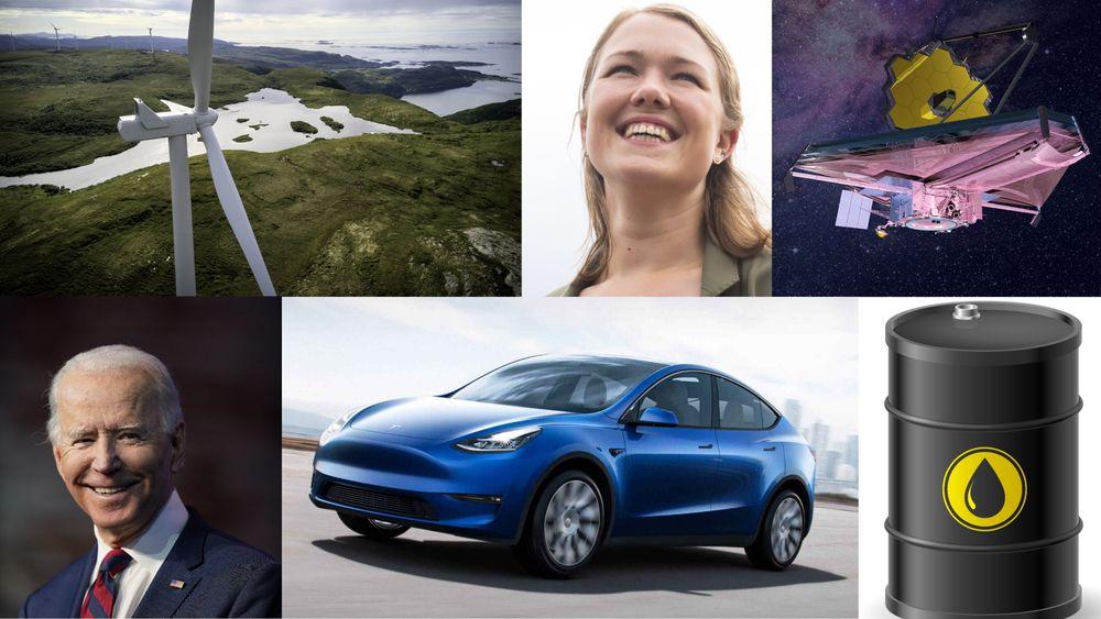 Vindkraft, Joe Biden, MDG, Tesla, Webb-teleskopet og oljeprisen: Hvor godt klarer du å se inn i spåkula?