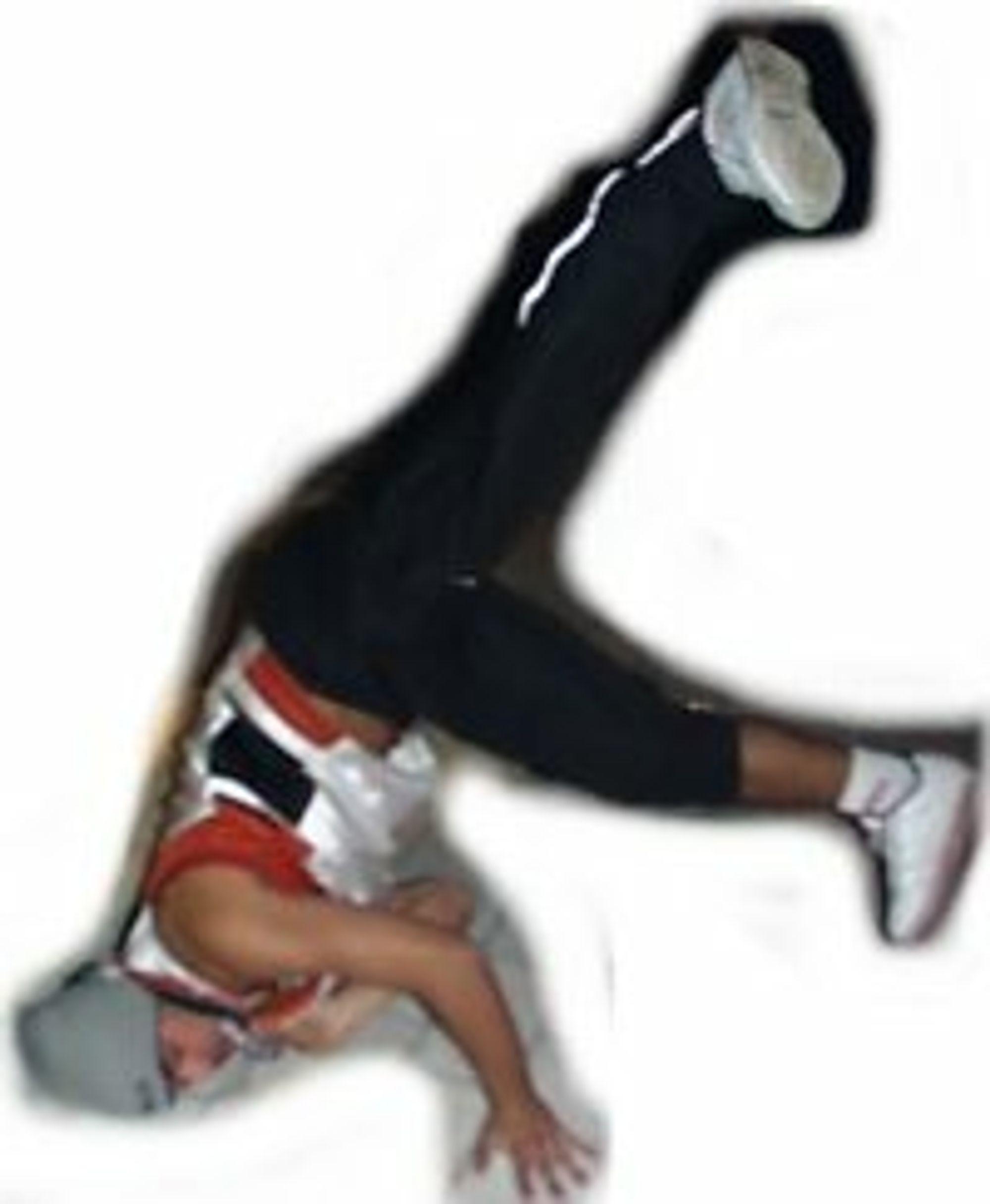 På hodet for internett 30 år. Breakdancer underholder.