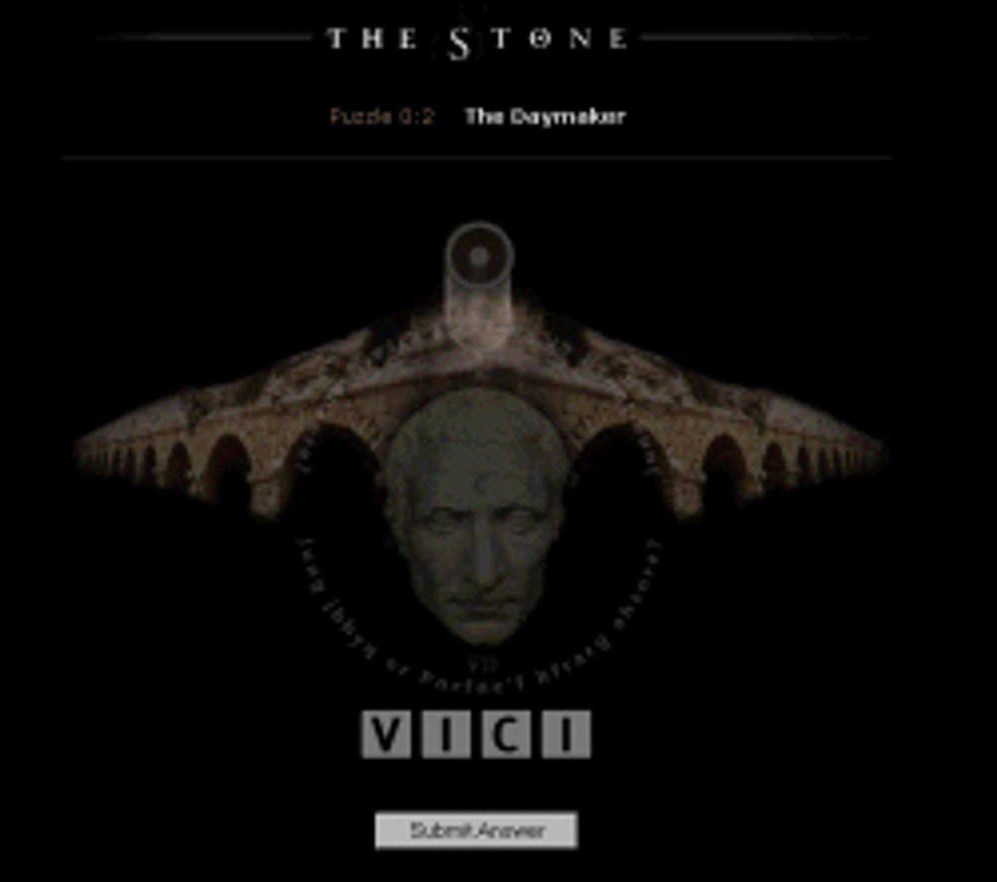 Gåten «The Daymaker» fra spillet «The Stone»