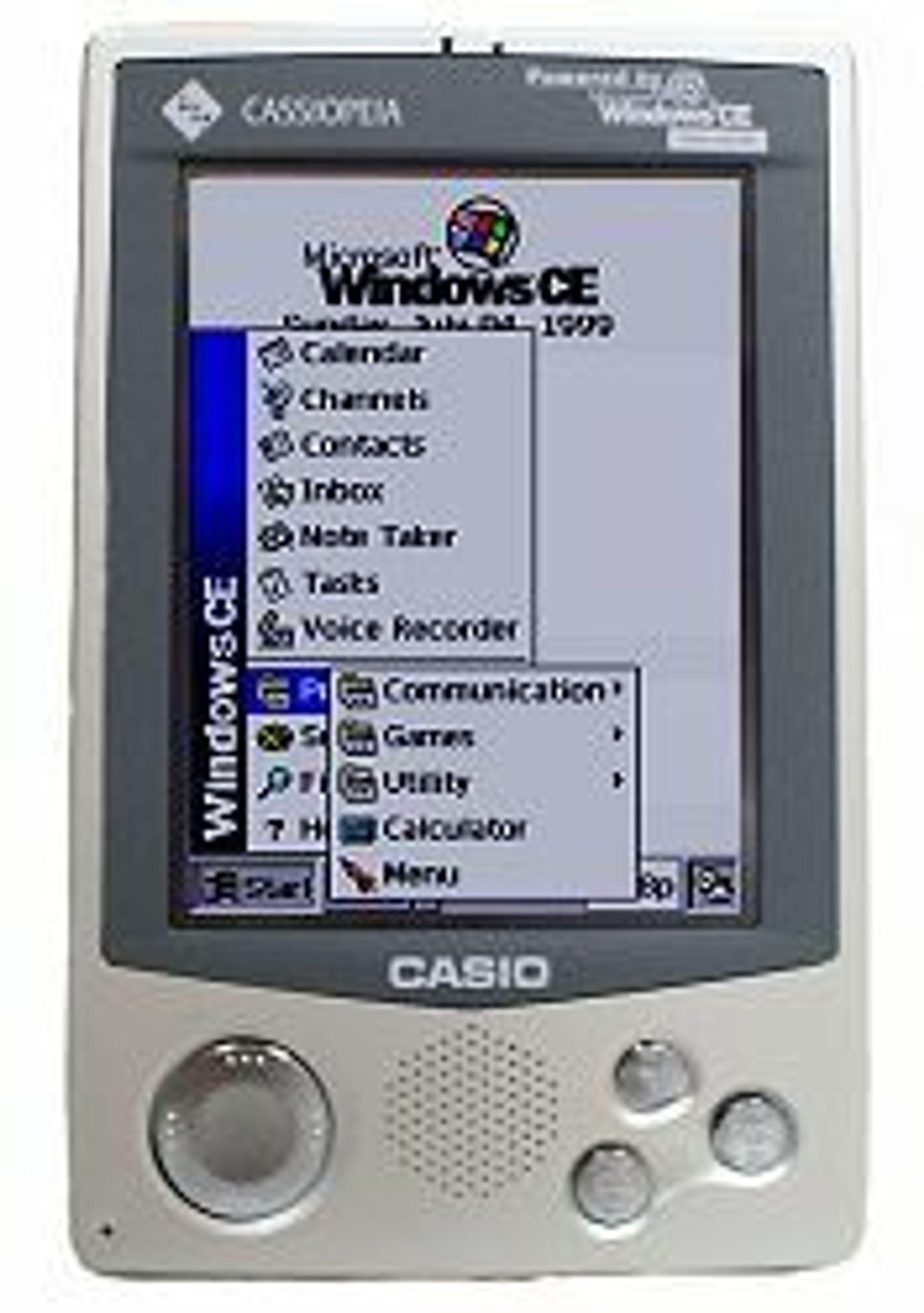 Casio Cassiopeia E-100, PDA med fargeskjerm fra Casio