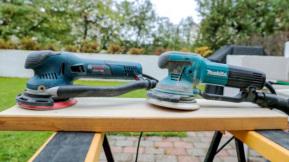 Bosch og Makita: Vi opplever begge maskinene som gode å jobbe med.
