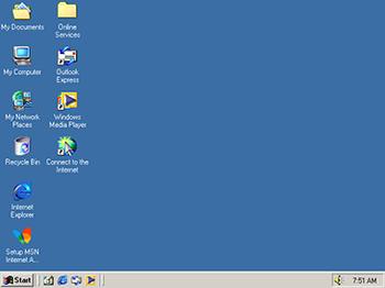 Skrivebordet i Windows Millennium Edition/Windows Me