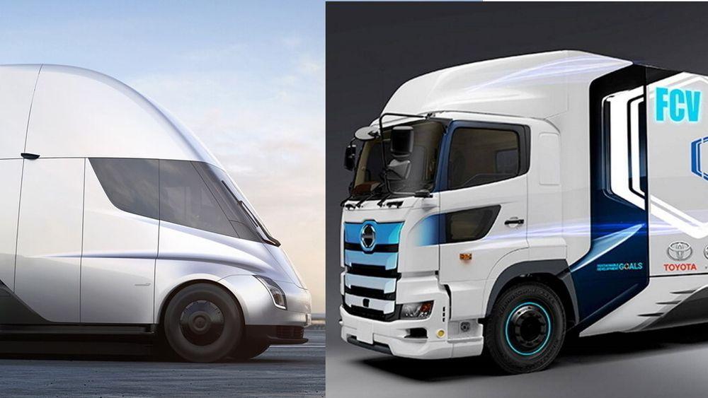 Tesla Semi против водородного грузовика Тойоты