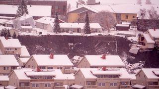Noen av husene i skredet har flyttet seg opptil 400 meter