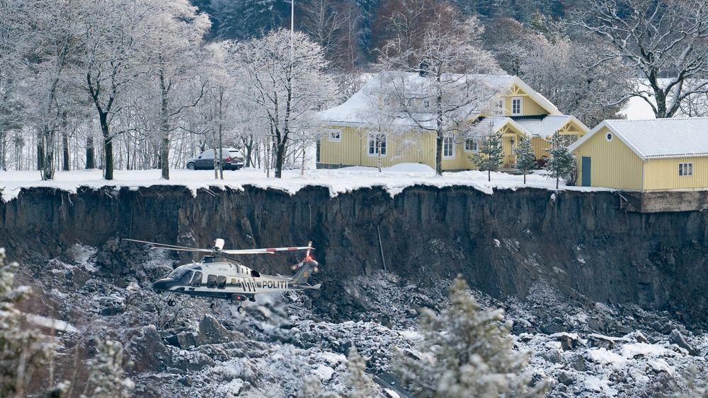 Det er fremdeles fare for at hus kan rase etter kvikkleireskredet i Ask i Gjerdrum.