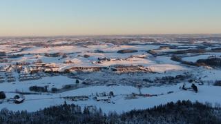 Ny dronevideo viser omfanget av skredet i Gjerdrum
