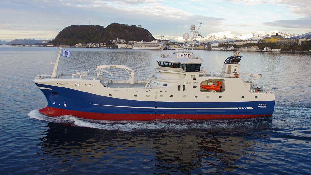 Fiskebåten Geir har sauna og solarium.