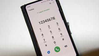 Telefonappen på en Samsung-mobil