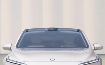 Kameraer og lidar er plassert på bilens tak.