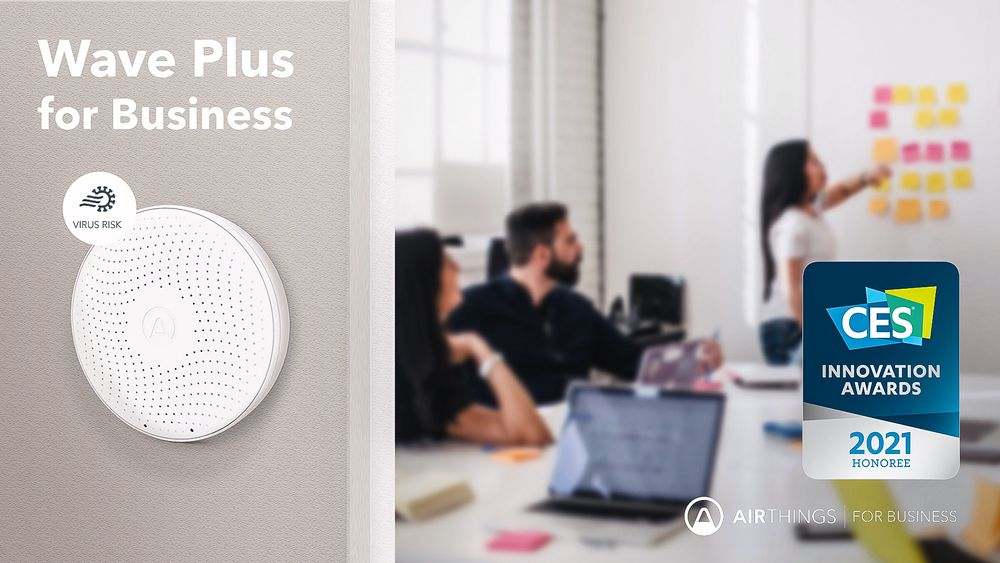 CES-pris: Airthings har allerede fått en pris for utviklingen av virusrisikoanalysen.