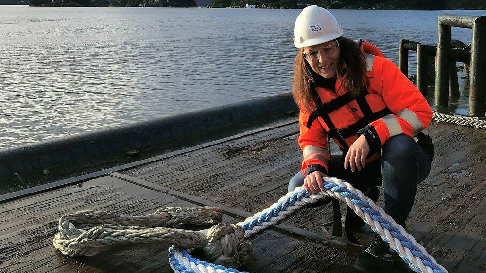 Veronika Aspelund har vært med på utviklingen av Snap Back Arrestor i Timm Ropes. Nå er hun Business Manager Ropes i Wilhelmsen, som overtok  Timm i 2016.