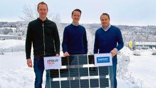Apollotech Sagstuen bipv integrerte solceller fasade glass balkong rekkverk solenergi