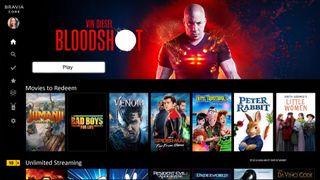 Utvalg av filmer som tilbys i Sonys Bravia Core-tjeneste.