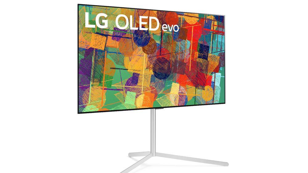 Toppen av OLED: LG lanserer et nytt OLED-panel med mer lysstyrke. De nye modellene kan fås med tripod.