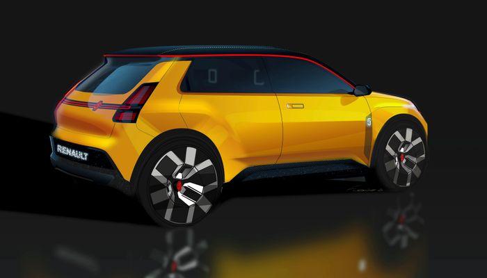 Konsepttegning av Renault 5.