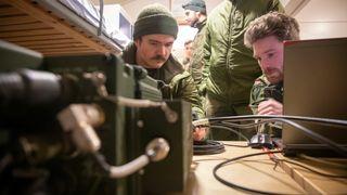 Cybertekniker-elever på øvelse i Voss.