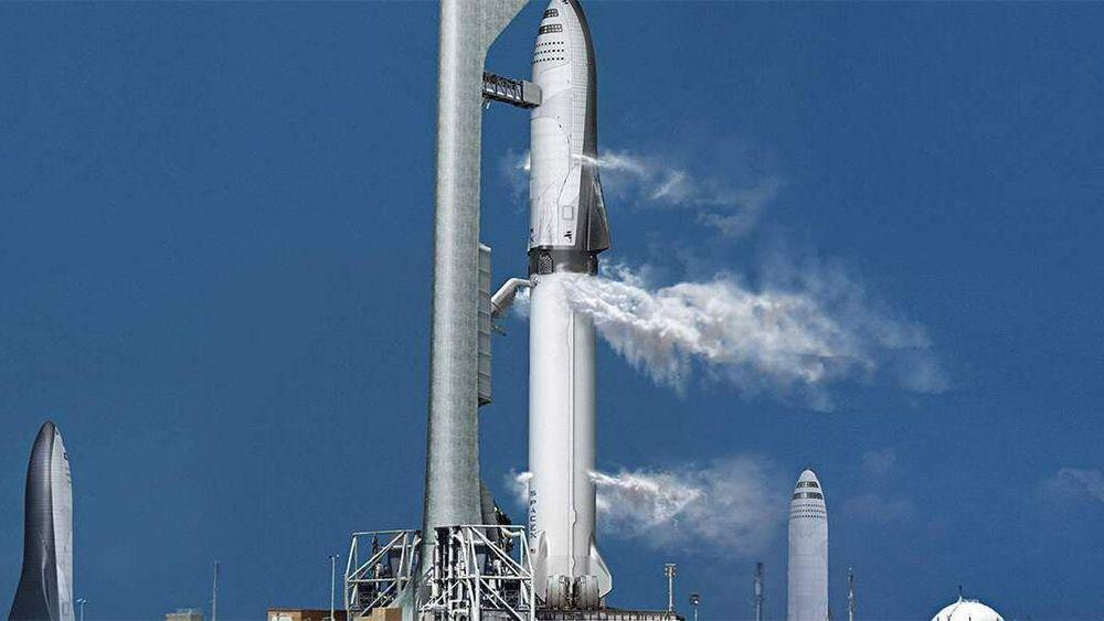 Slik skal ifølge planen det 122 meter høye Starship System se ut.