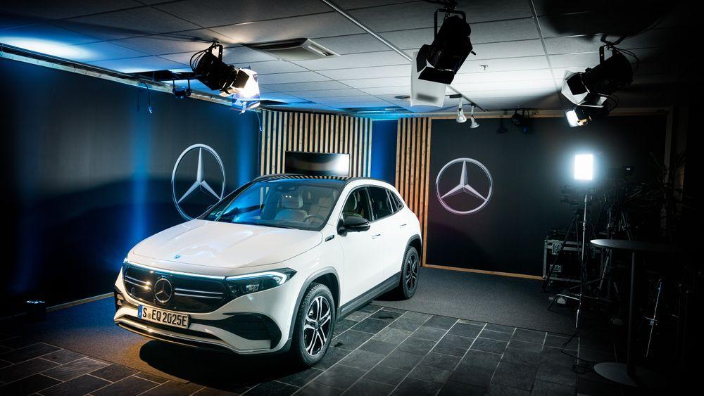 Mercedes EQA. Første visning på Lørenskog.