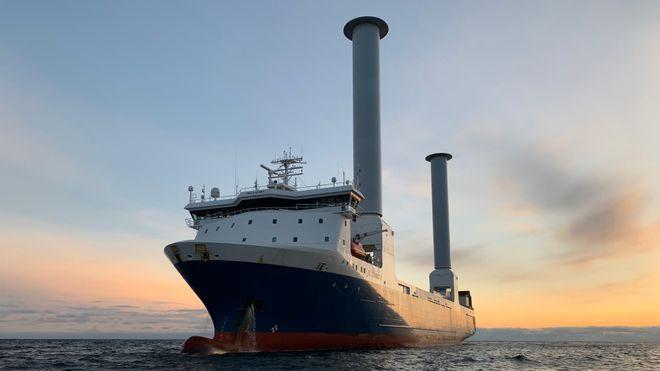 SC Connector seiler med rotorseil - sparer 25 prosent drivstoff