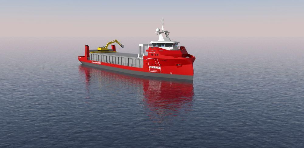 To selvlossende bulkskip på 3.000 dødvekttonn skal transportere stein, pukk og asfalt for Veidekke i asfaltsesongen.