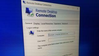 Skjermbilde av Remote Desktop-funksjonen i Windows.