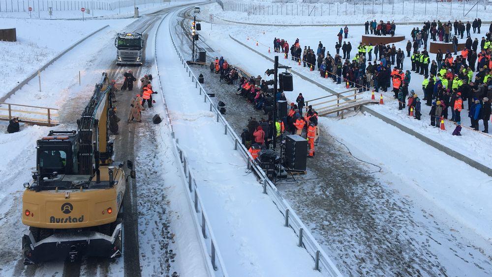 K.A. Aurstad var det største maskinentreprenørselskapet mellom Trondheim og Bergen. Her fra åpningen av E6 Frya–Sjoa i 2016.