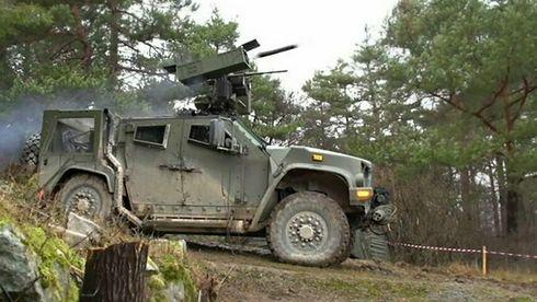 Testskjøt israelske panservernmissiler fra Kongsberg-våpenstasjon