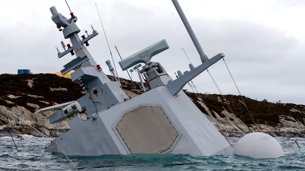 KNM Helge Ingstad sank etter kollisjonen med tankskipet TS Sola.