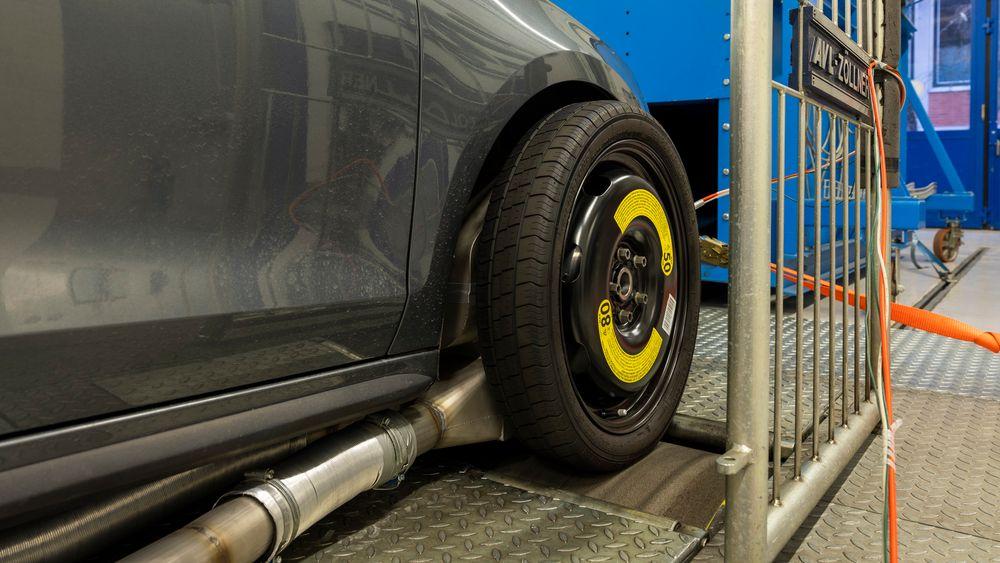 Målinger viser at bremsestøvet består av mest jernoksid.