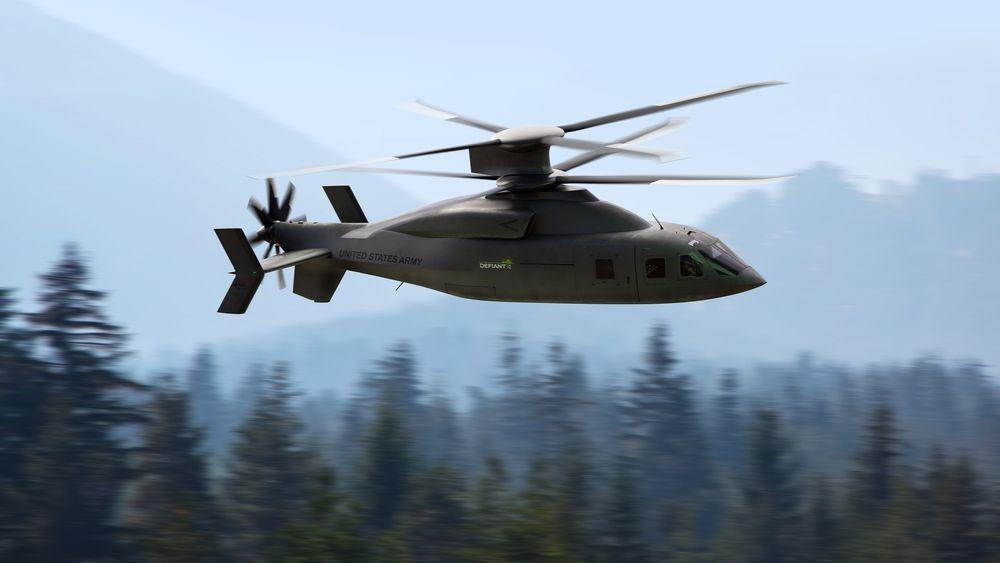 Slik vil Defiant-X framstå. Dette er en videreutvikling av SB>1 Defiant som fløy første gang i mars 2019.