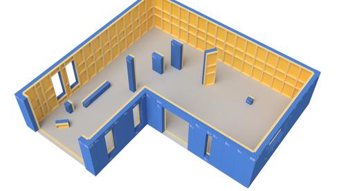 Eon Element prefabrikkasjon prefab moduler hus bygg kjetil sivertsen halldorsen passivhus tek17 dampsperre