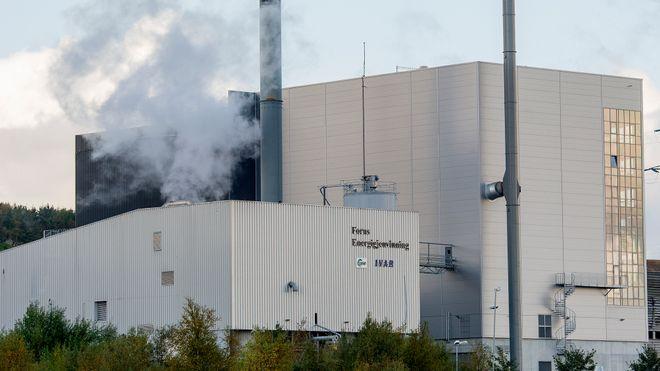 Ved dette anlegget kan det bli karbonfangst på avfall