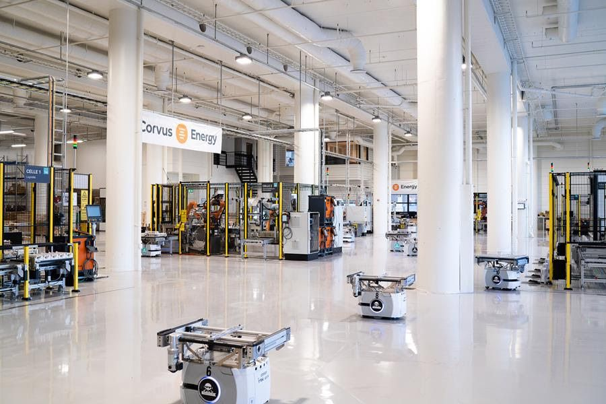 Corvus Energys batterifabrikken i Bergen.  Nå skal den utvides til å produserer brenselceller fra Toyota for marine applikasjoner.