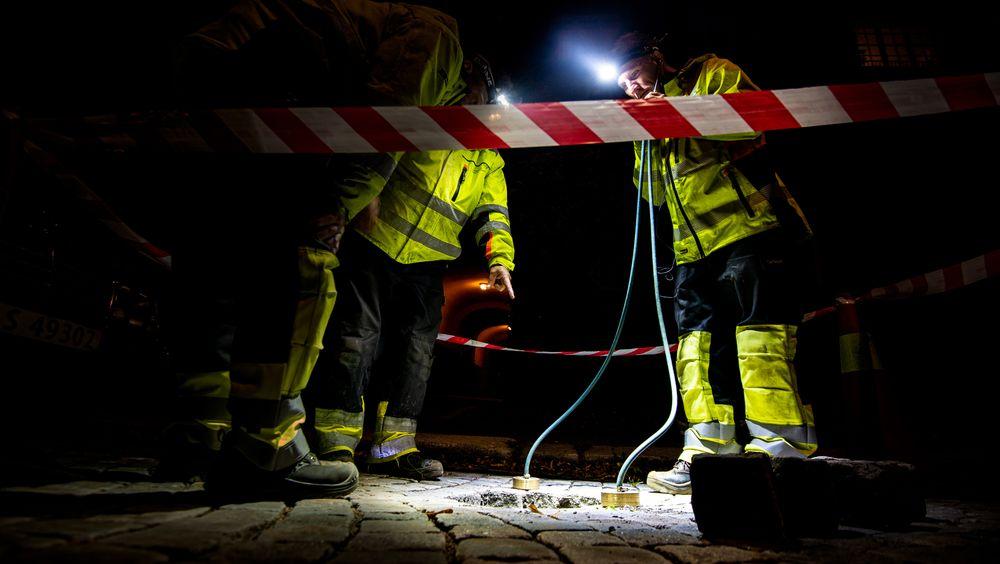 Hver dag, og natt for den saks skyld, går 10 000 kvinner og menn på jobb for å sikre oss nordmenn rent vann i springen, og at avløpsvannet er forsvarlig renset når det slippes tilbake i naturen rundt oss. 24 timer i døgnet, 365 dager i året, skriver innsenderen. Bildet er tatt under nattarbeid i Oslo kommune.