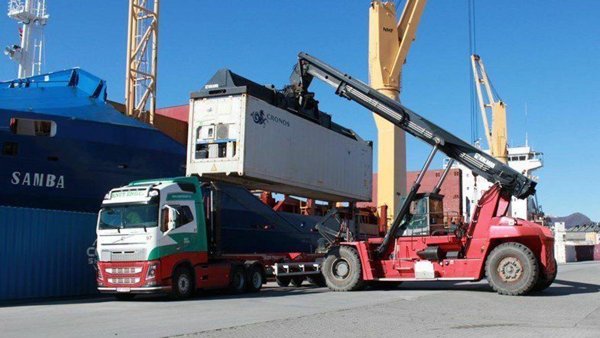 Godsoverføring fra vei til sjø har hittil redusert klimagassutslipp tilsvarende 21.000 tonn CO2.