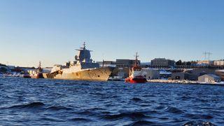 Nå seiler fregatten «Helge Ingstad» for siste gang