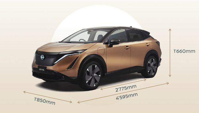 Ytre mål for Nissan Ariya.
