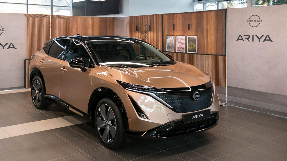 Nissan Ariya utstilt i Oslo.