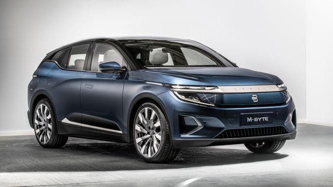 SUV-en M-Byte skal være den første bilmodellen ut fra Byton. Hvorvidt den noen gang kommer til Europa er uklart.