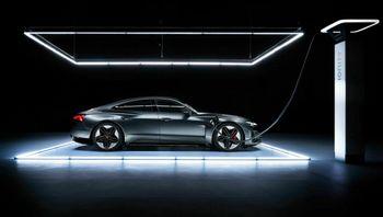 Audi E-Tron GT kan lades med 270 kW.