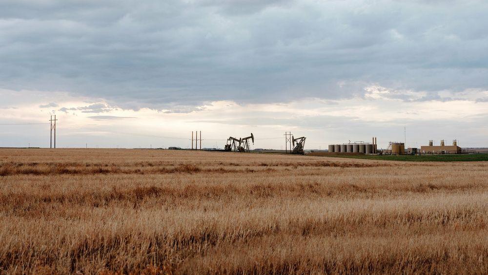 Oljefelt i Bakken-området, Nord-Dakota.
