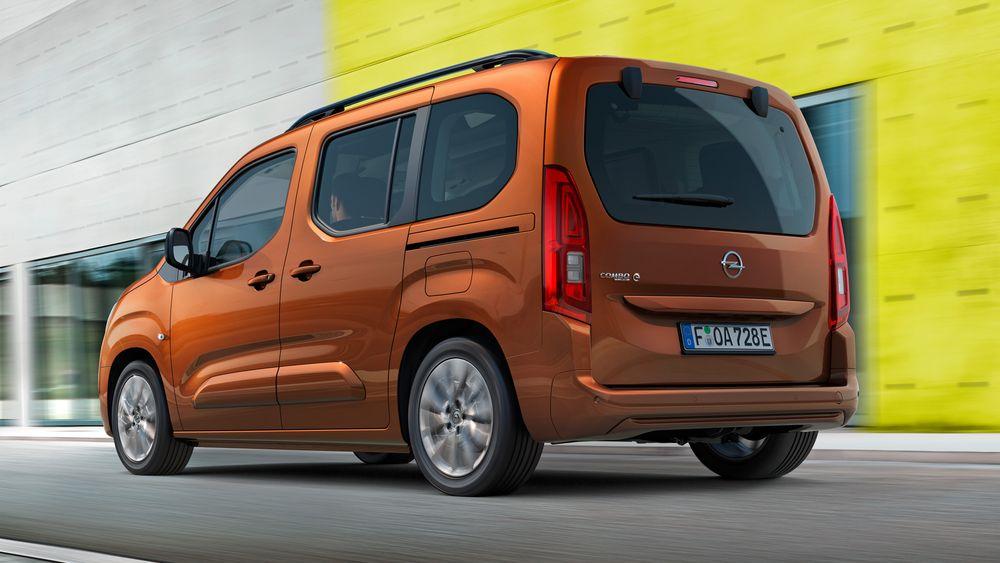 Opel lanserer en elektrisk flerbruksbil med mulighet for sju seter.